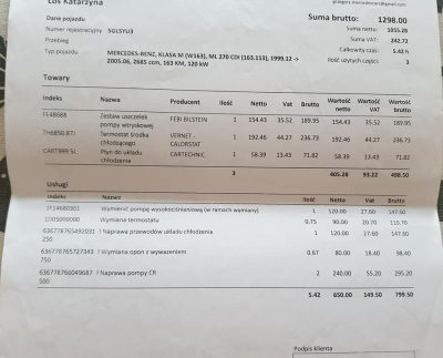 MErcedes W163 270CDI Giełda Mercedesów